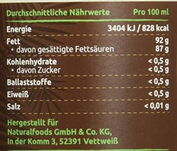 PureBIO Kokosöl 1000ml (1L) für HAARE, HAUT und zum KOCHEN - Kokosöl bio, nativ und kaltgepresst - 2